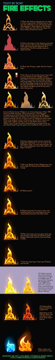 comment faire du feu ... en dessin