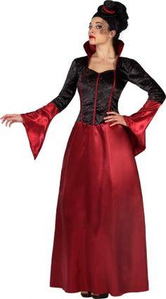 Déguisement vampire rouge et noir femme Halloween