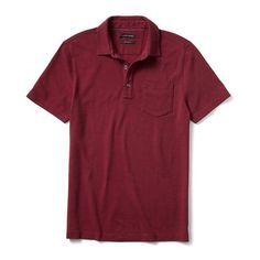 6bb54fd9 Banana Republic Mens Solid Pique Polo ($45) ❤ liked on Polyvore featuring  men's fashion