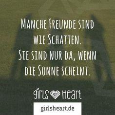 Auf manche Menschen kann man sich leider nicht verlassen.  Mehr Sprüche auf: www.girlsheart.de  #freunde #freundinnen #freundschaft