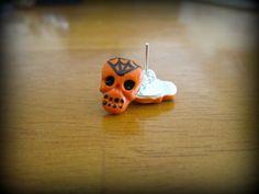 Halloween Skull Earrings by HauntedHairCandy on Etsy, $4.00