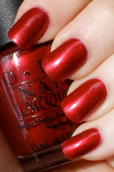OPI's An Affair In Red Square - the perfect red nail polish for when I'm feeling sexy -- my favorite red of all time!!!
