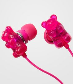 Make Your Ears Smell Like Candy With These Cute Scented Gummi Bear Earbuds - Internet Siao Things To Buy, Girly Things, Cute Headphones, Crown Headphones, Iphone Accessories, Electronics Accessories, Kawaii Accessories, Everything Pink, Gummy Bears