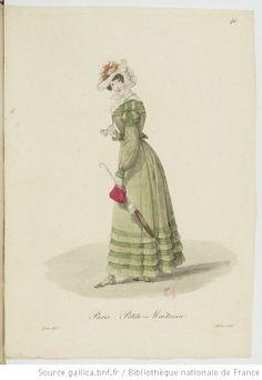 Petite-Maîtresse from Georges-Jacques Gatine, Costumes d'ouvrières parisiennes, 1824, BNF Paris