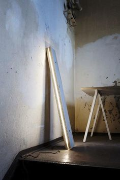 LED Plank Lamp Norway. A led light sandwiched between two pieces of wood. Maybe a new DIY?