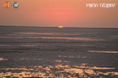 Mesmerising hues of amber and red, Experience glorious sunsets at Rann...  When are you planning to visit Rann Utsav?  #RannUtsav #WhiteRann #RannOfKutch #Tourism #IncredibleIndia Toll Free: 1800 270 2700 | www.rannutsav.net