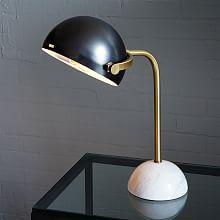Clint Desk Lamp - Antique Bronze/Marble