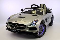 MERCEDES SLS 12V KIDS RIDE-ON CAR MP4 COLOR LCD BATTERY POWERED WHEELS RC REMOTE | SILVER