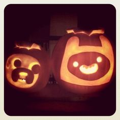 ADVENTURE TIME PUMPKINS by Chair!, via Flickr