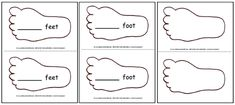 Printable Feet Template Pattern for the Foot Book - -  Pinned by @PediaStaff – Please Visit http://ht.ly/63sNt for all our pediatric therapy pins