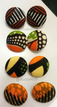 30mm button style earrings. Now available.    http://studio4608.tictail.com/