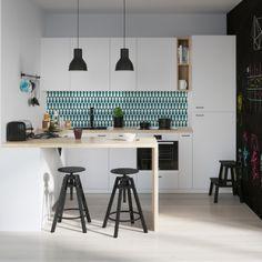Keukenbehang RETRO DROP | Ikea KEUKEN | 123kea
