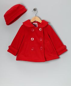 Red Peacoat - Infant & Toddler
