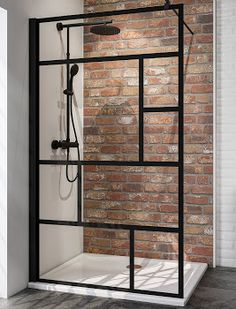 Discover our selection of black Italian shower screens on Schulte.fr ✓ Easy and quick to assemble ✓ Free delivery. Dream Bathrooms, Small Bathroom, Bath Tiles, Aluminium, Home Interior Design, Diy Home Decor, House Design, House Styles, Shower Screens