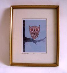 Larger Size Teacake Owl Print by nikkimcwilliams on Etsy, £8.00
