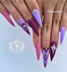 we compare more than 200 gorgeous coffin nails with stiletto nails.In the spark of the contrastive collision of these gifted nail creations, Nail Swag, Solid Color Nails, Nail Colors, Holographic Nails, Gradient Nails, Matte Nails, Acrylic Nails, Prom Nails, My Nails