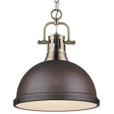 Classic Dome Large Shade Pendant Light