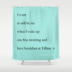 Breakfast At Tiffany's Fabric Shower Curtain by BellaBellaShoppe