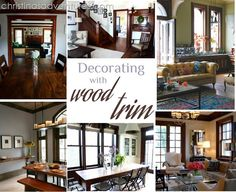 Decorating with wood trim.