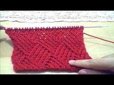 knit Fantastic pattern with Rectangle ... جديد .. لمحبى التريكو المستطيلات المتداخلة - YouTube