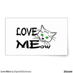 Love MEow Rectangular Sticker