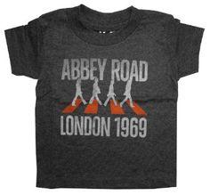 Amazon.com: The Beatles Abbey Road London 1969 Life Clothing Toddler T-Shirt: Clothing