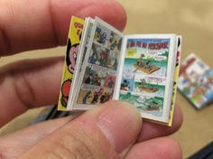 miniature comic book!