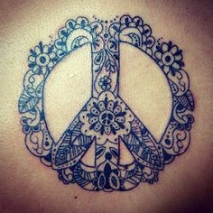 peacesign paisley blackandwhite tattoo - want this one so badly! Or a varient of it.