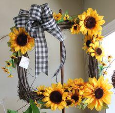 Silk Sunflower Wreath