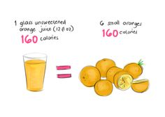 Choose wisely. Juices are almost always bogged down with sugar and extra calories.