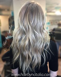 Cool ashy blonde balayage. Balayage in Denver. Hair color specialist in Denver CO. 720-917-5165 www.hairbynatalia.com