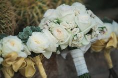 artisan event flowers, white bouquet, white roses bouquet