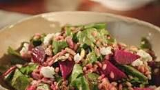Valerie Bertinelli's Farro, Roasted Beet and Goat Cheese Salad. (This looked SO good when she made it on her show!)