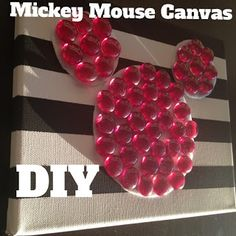 Mickey Mouse Canvas Art DIY