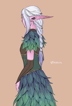 Ruvana is really good with hair so sometimes she makes Faeb's look nice for druid council meetings. :)