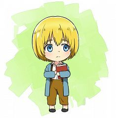 Shingeki No Kyojin - Armin Arlert (chibi) Attack On Titan Ships, Attack On Titan Anime, Kawaii Chibi, Anime Chibi, Aot Armin, Mermaid Boy, Hxh Characters, Titans Anime, Awesome Anime