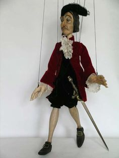 Designer puppets. Each doll marionette is a unique designer work handmade by a Czech artist!