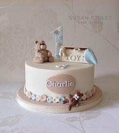 Buttons n' Bears 1st Birthday Cake
