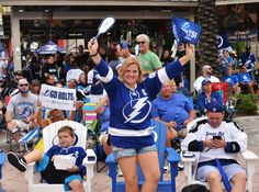 Fans cheering on the Tampa Bay Lightning during a Watch Party! Stanley Cup Finals, Tampa Bay Lightning, Nhl, Hockey, Fans, Watch, Party, Clock, Field Hockey