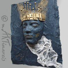`Königin der Nacht` Papierplastik