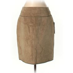 Telluride Clothing Co Leather Skirt ($52) ❤ liked on Polyvore featuring skirts, tan, tan leather skirt, genuine leather skirt, real leather skirt, brown leather skirt and brown skirt