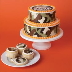 Duff™ Camouflage Cake Tattoos | Camo Party