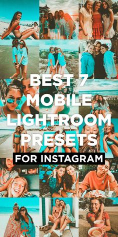 7 One-Click Lightroom Mobile Presets. The main preset highlights turquoise and orange, turning it into a retro film look. Instagram Bio Quotes, Instagram Ideas, Instagram Feed, Lightroom Photo Editor, Selfie Tips, Or Violet, Photography Filters, Vsco Filter, Theme Ideas