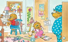 8 truths about home organization i learned from the berenstain bears via apt. therapy - so cute/true!