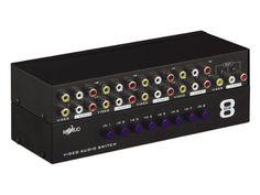 MT-VIKI 8 Ports 8-In 1-Out AV RCA Splitter Selector Switch Adapter MT-831AV MT-VIKI