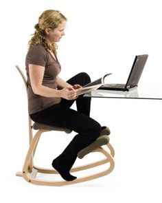 Variable Balans Chair w/ Back - I need this in my life!