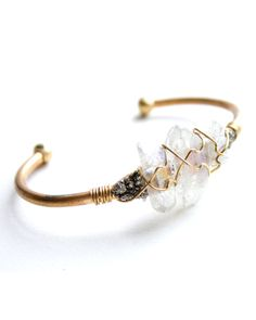Opalescent Crystal Wire Cuff