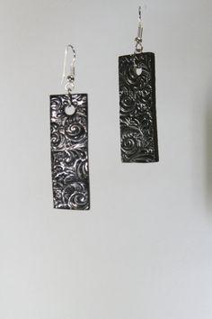 Ceramic Jewelry  lightweight pewter glazed earrings by kimjustice, $12.00