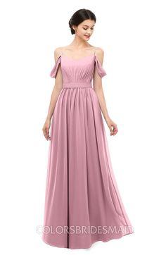 653faa373631 ColsBM Elwyn Bridesmaid Dresses Floor Length Pleated V-neck Romantic  Backless A-line