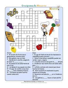 Crucigramas imprimibles para niños de Nourish Interactive. Haga clic aquí para imprimir este divertido crucigrama de alimentos para la educación nutricional. Crucigramas de la pirámide alimenticia para niños. ¡Visítenos para juegos de nutrición en líne...